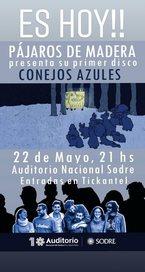 22 MAY Auditorio SODRE xon Pájaros de Madra.